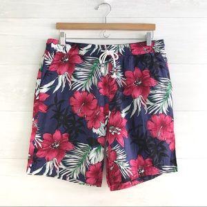 {Jogal} Hawaiian floral shorts, L